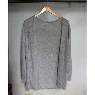 Light Gray Long Cardigan