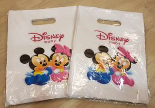 50pcs of Disney Baby Plastic Carriers Gift Bags