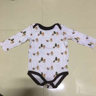 Brown & White Printed Onesie