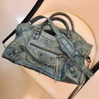 BALENCIAGA Giant City Bag  (light grey)