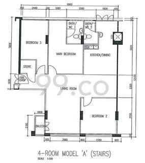 Blk 253 Bishan Street 22 (Bishan), Model A - For Rent