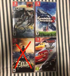 Switch Game zelda xenoblade car3 baynoetta