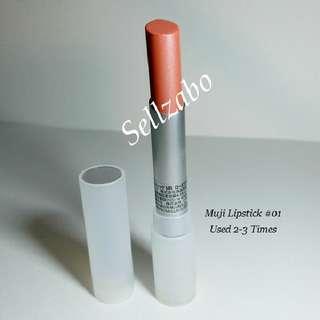 Used Lipstick Muji #01 Lips Stick Red Colour Makeup Cosmetics Beauty Sellzabo