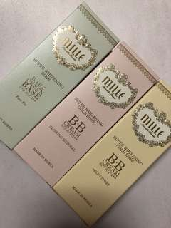 Mille beauty super whitening gold rose B.B. creams 3 pieces