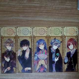 Rejet Teikoku Star Skit Dolce Limited Edition CD Series Bookmarks