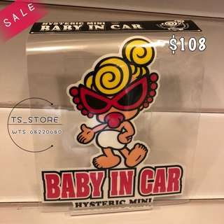 [SALES] HYSTERIC MINI 黑超B 汽車貼 👶🏼 BABY IN CAR 🚗