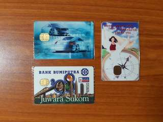 Vintage 1998 Cashcards from Singapore and Malaysia