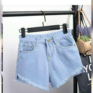 High waist summer casual denim shorts