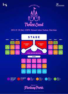 TwiceLand2inKL VIP SEATING TICKET