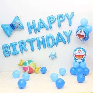Doraemon Birthday party balloons