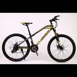 """26"""" LT Frame MTB / Mountain Bikes ✩ 24Speeds, Disc brakes, Front suspension ✩ Brand new Dkaln bicycles"""