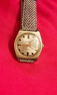 Raya Offer-Swiss Helbros  Automatic Gold Plated Watch