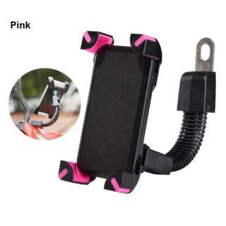 Motorcycle Phone Holder 80001 (Pink)