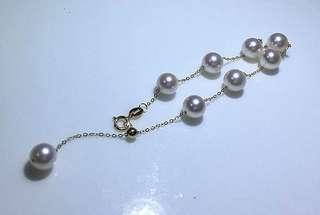 滿天星帶粉海水珍珠手鏈