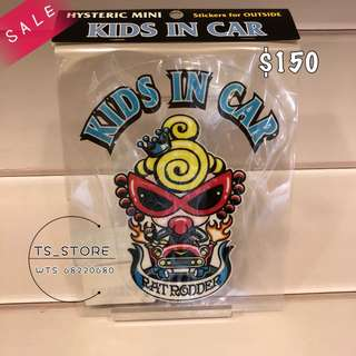 [SALES] Hysteric Mini 黑超B 汽車貼 👧🏻KIDS IN CAR 🚗
