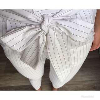 🚚 韓製日貨 條文西裝褲