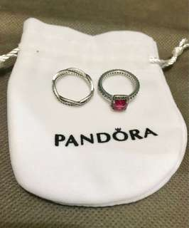 PANDORA Timeless and Infinity Rings Size 54