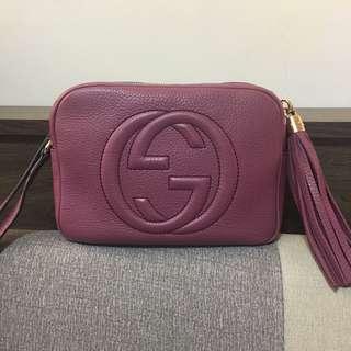 🚚 Gucci/soho包/乾燥玫瑰色/正品專櫃購入