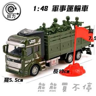 <現貨/ 新進貨大特價! > 軍事運輸車 1:48 合金汽車模型 兒童迴力玩具車 益智玩具 實物拍攝
