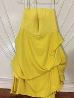 Customized Yellow Cocktail Dress