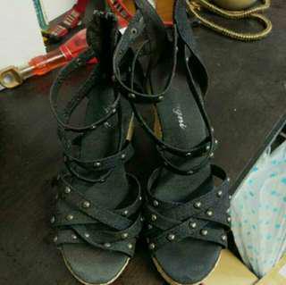 🚚 黑色羅馬鞋 搬家出清 降價賣 #畢業兩百元出清