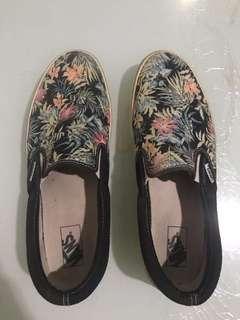 Vans Floral Slip-on Size 10