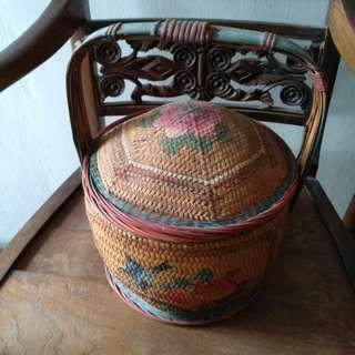 Vintage  old wedding basket