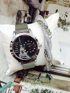 Fashion watch with bracelet
