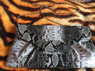 Pre loved snake skin sling bag