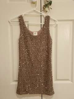 Gold Sequin Mini Bodycon Dress