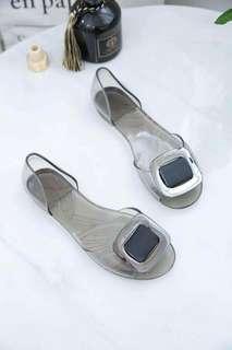 Transparent sandals