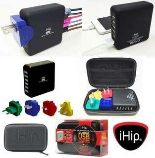 美國進口🇺🇸6埠USB旅行充電器 + 4個國際插頭