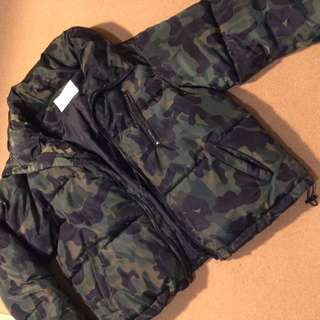 Quality Cropped Camo Puffer Jacket 8
