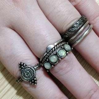 Rustic Ring Set of 7