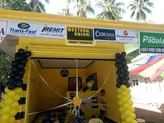 Western union, Cebuana Smartpadala, Bayad Center, Airline Ticketing