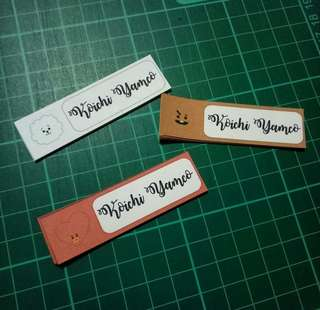 Personalized name stickers 💗