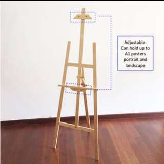 One day promotion!15 June only !1.45m wooden easel stand,Art studio,wedding display,drawing A1 poster