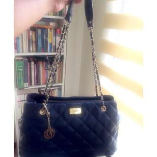 DKNY Women's Blue Gansevoort Quilted Chain Handle Shopper