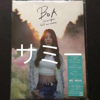 BoA『Message / Call my name』(🇯🇵日本盤) (CD+DVD 初回盤特殊パッケージ仕様)