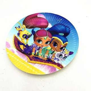 💕 Shimmer and Shine Party supplies - party plates