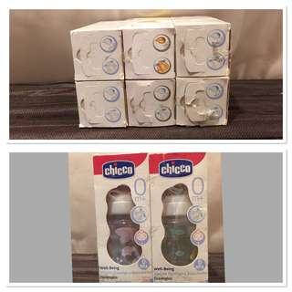 6 pcs Chicco Feeding Bottle brand new never used (only sterilized) REPRICED!!!