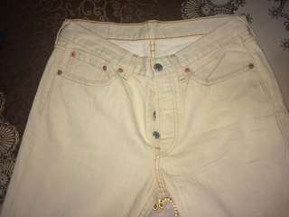[FREE SHIPPING] Levi's 501 Cream Jeans