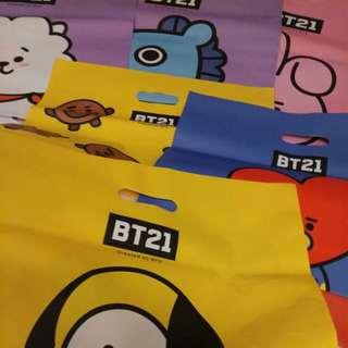FREE! BTS BT21 PLASTIC BAGS