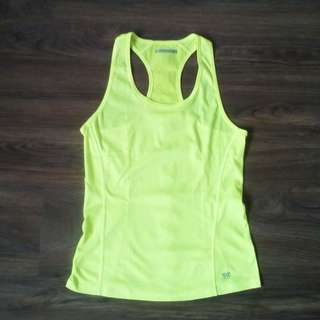 Forever 21 Activewear Neon Yellow Running Racerback Performance Tank