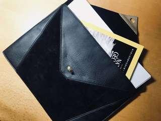 絨布面 文件袋 收納袋 手袋 pouch