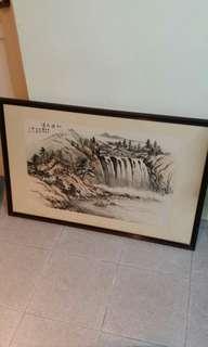 Chinese Painting画家杨丽卿(73×45)cm