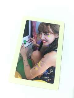 Twice Nayeon Likey Twicetagram Pre-Order Benefit Photocard
