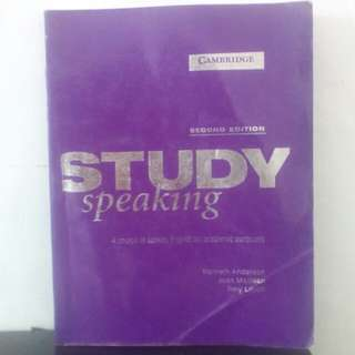Buku Study Speaking second edition A Course in spoken English for Academic purposes