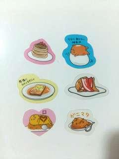 (Set K) Gudetama Stickers set