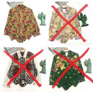 三件古著vintage復古雪紡襯衫14